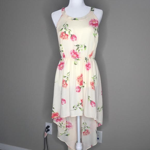 torrid Dresses & Skirts - NWT Torrid Blush Floral Challis Cutaway Dress Sz 2
